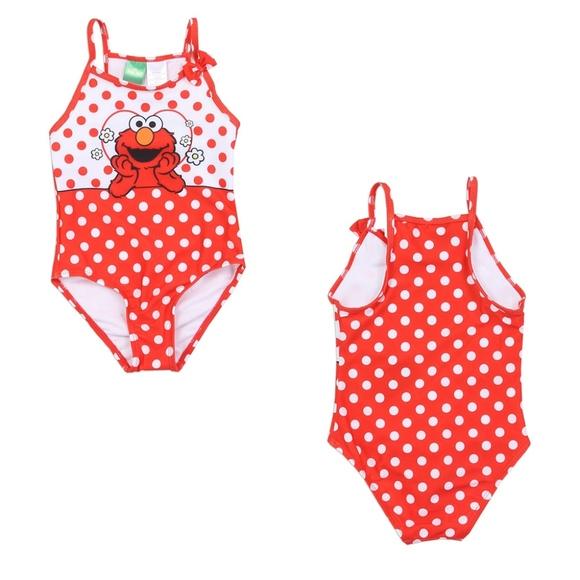 dcc543fe04 Sesame Street Swim | Elmo Girls Bathing Suit Nwt | Poshmark
